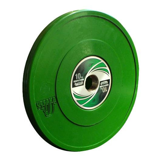 uesaka weightlifting competition bumper weight plate 10kg