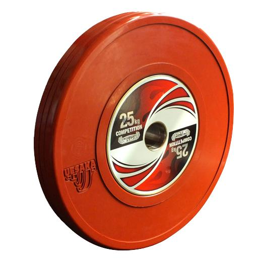 uesaka weightlifting competition bumper weight plate 25kg